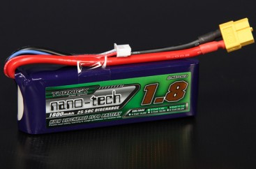Turnigy nano-tech 1800mah 3S 25~50C Lipo Pack