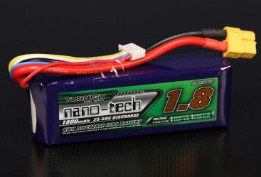 Turnigy nano-tech 1800mah 4S 25~50C Lipo Pack