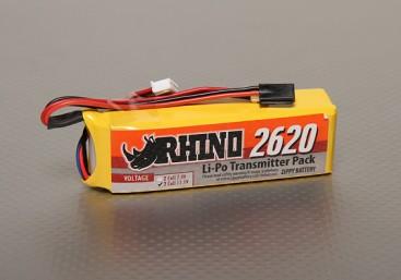 Rhino 2620mAh 3S 11.1v Low-Discharge Transmitter Lipoly Pack