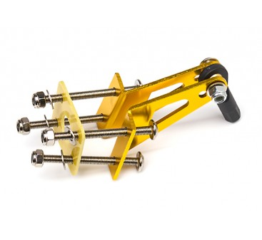Aluminum Control Horn with Four Mounting Points and Ball Link (Gold)
