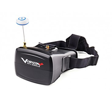 "Visionplus FPV Goggles w/ Integrated 5"" TFT Monitor and 40 Channel Receiver"