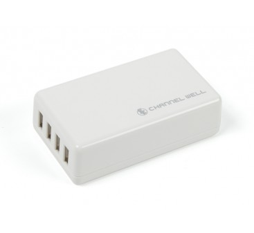 USB 4 Port 25W/5A Charger (US Plug)