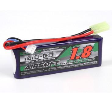 Turnigy nano-tech 1800mah 2S 25~50C Lipo AIRSOFT Pack