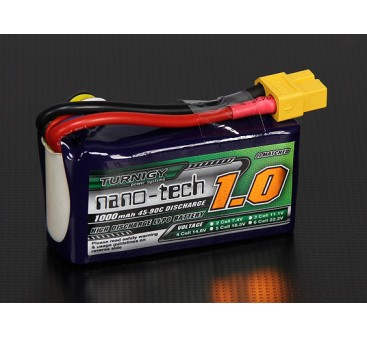 Turnigy nano-tech 1000mAh 4S 45~90C Lipo Pack