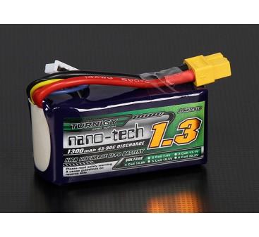 Turnigy nano-tech 1300mAh 4S 45~90C Lipo Pack