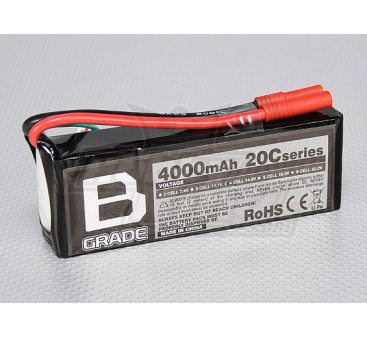 B-Grade 4000mAh 4S 20C Lipoly Battery