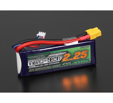 Turnigy nano-tech 2250mah 2S 65~130C Lipo Pack