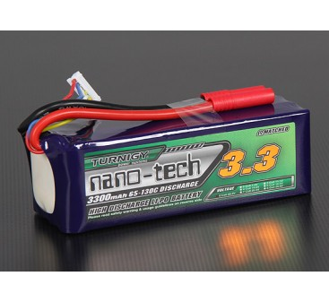 Turnigy nano-tech 3300mah 6S 65~130C Lipo Pack
