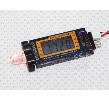 HobbyKing™ Cellmeter-6 Lipo/Life/Li-ion Cell Checker & Alarm