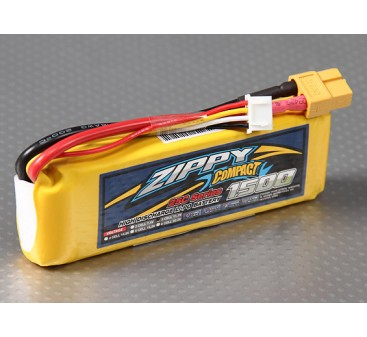 ZIPPY Compact 1500mAh 3S 25C Lipo Pack