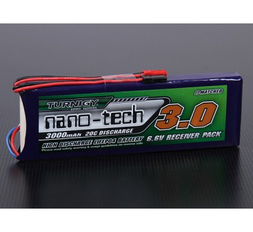 Turnigy nano-tech 3000mAh 2S1P 20~40C LiFePo4 Receiver Pack