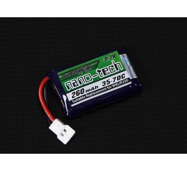 Turnigy nano-tech 260mAh 1S 35-70C Lipo Pack (QR Ladybird/Genius CP/Mini CP)
