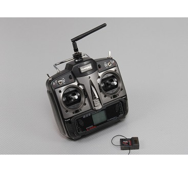 Turnigy 6XS FHSS 2.4ghz Computer Transmitter w/6 Model Memory Inc 7 Ch Receiver (Mode 2)