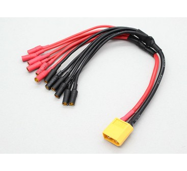 XT60 to 6 X 3.5mm bullet Multistar ESC Power Breakout Cable