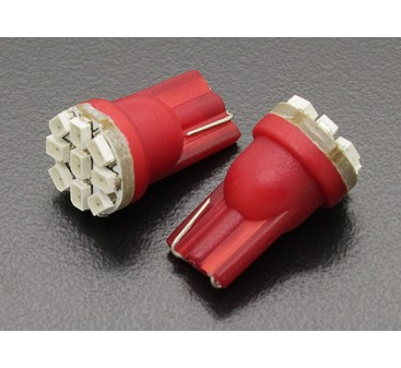 LED Corn Light 12V 1.35W (9 LED) - Red (2pcs)
