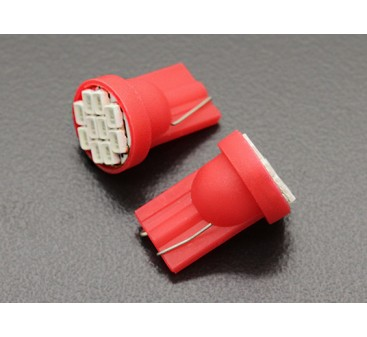 LED Corn Light 12V 1.5W (10 LED) - Red (2pcs)