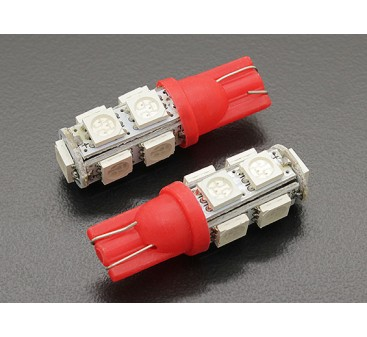 LED Corn Light 12V 1.8W (9 LED) - Red (2pcs)