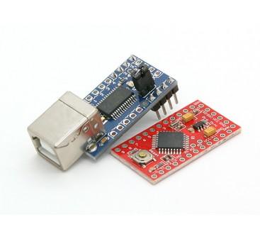 Kingduino Pro Mini Microcontroller 3.3V/8MHz w/Mini USB Adapter