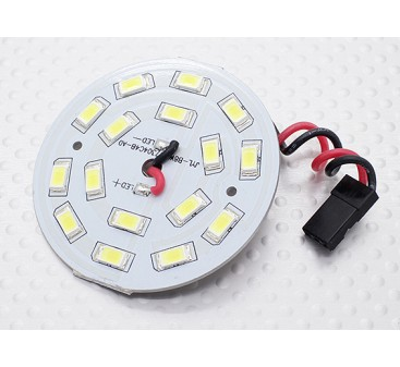 White 16 LED Circular Light Board with Lead