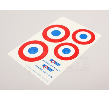 Scale National Air Force Insignia Decal Sheet - France (large)