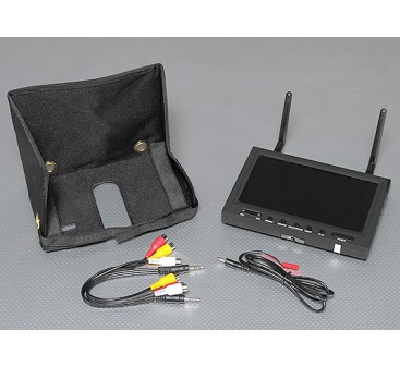 7 inch 800 x 480  5.8GHz Diversity Receiver & TFT LCD FPV Monitor with LED Backlight SkyZone