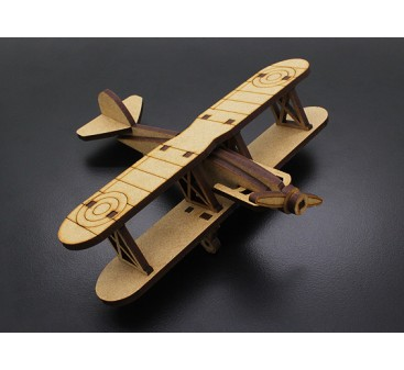 Bi-Plane Laser Cut Wood Model (KIT)