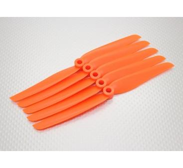 GWS Style Slowfly Propeller 7x3.5 orange (CCW) (5pcs)