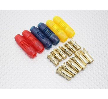 5mm RCPROPLUS Supra X Gold Bullet Polarised Connectors (6 pairs)