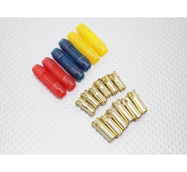 6mm RCPROPLUS Supra X Gold Bullet Polarised Connectors (6 pairs)
