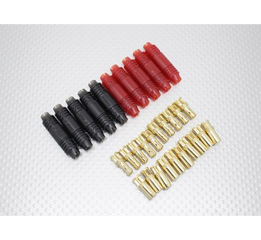 5mm RCPROPLUS Supra X Gold Bullet Polarised Battery Connectors (10 pairs)