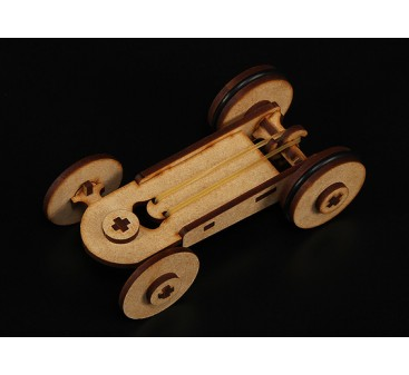 Rubber Band Car Laser Cut Wood Model (Kit)