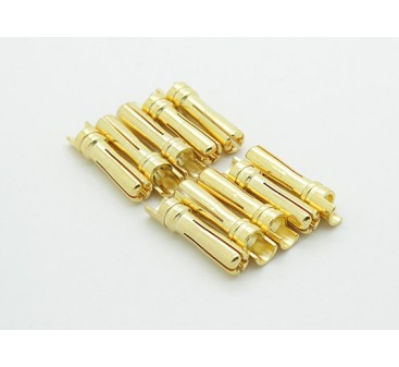 Male Gold Plated Spring Connector 4mm (10pcs/bag)