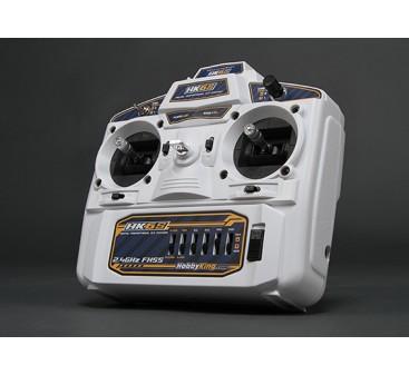 HobbyKing HK6S 2.4Ghz FHSS 6Ch Tx & Rx (White) (Mode 1)