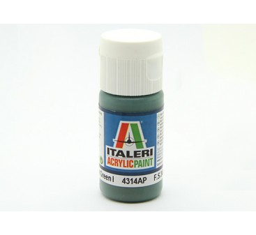 Italeri Acrylic Paint - Flat Medium Green 1 (4314AP)