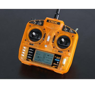 OrangeRx T-SIX 2.4GHz DSM2 Compatible 6CH Transmitter w/10 Model Memory and 3-Pos Switch (Mode 2)