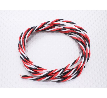 Twisted 22AWG Servo Wire 1mtr (R/B/W)