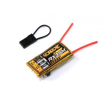 OrangeRX MicroRX3S 3-Axis Flight Stabilizer DSMX/DSM2  Compatible 4CH 2.4Ghz Rx w/Rem Gain Control
