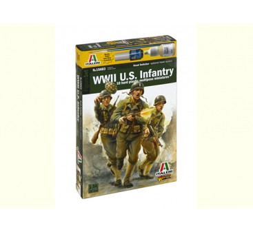 Italeri 1/56 Scale WWll U.S. Infantry Military Figure Kit