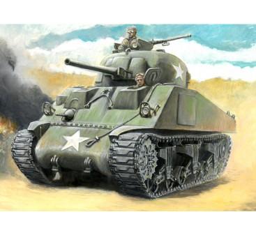 Italeri 1/56 Scale Italeri 1/56 US M4 Sherman 75mm Plastic Model Kit