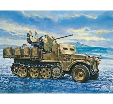 Italeri 1/35 Scale Demag D7 With Flak 38 Sd. Kfz. 10/5 Plastic Model Kit