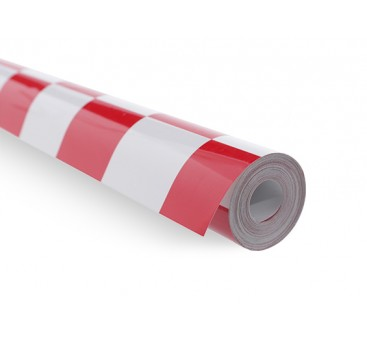 Covering Film Grill-Work Red/White (5mtr) 401