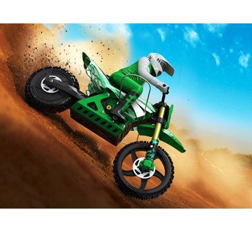 Super Rider SR4 1/4 Scale Brushless RC Motorcycle (ARR) - Green