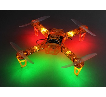 HobbyKing FPV250 V4 Orange Ghost Edition LED Night Flyer FPV Drone (Orange) (Kit)