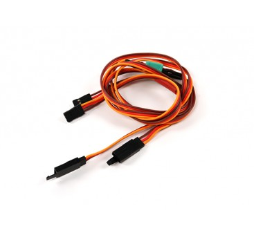 Wing Servo Connector 2xMale / 2xFemale JR with D-0953 MPX 700mm Length (2 Pieces)