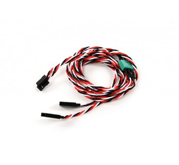 Wing Servo Connector 2xMale / 2xFemale Futaba with D-0953 MPX 900mm Length (2 Pieces)
