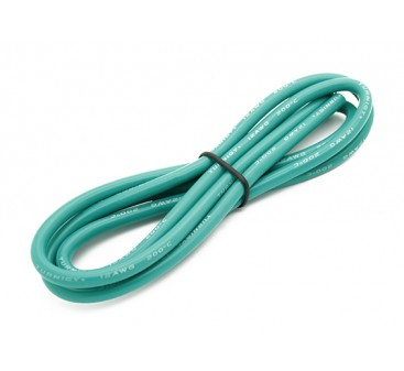 Turnigy High Quality 12AWG Silicone Wire 1m (Green)