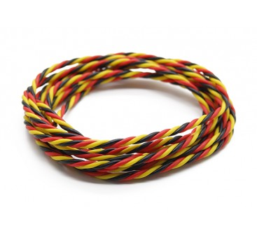 Twisted 22AWG Servo Wire Red/Black/Yellow (2mtr)
