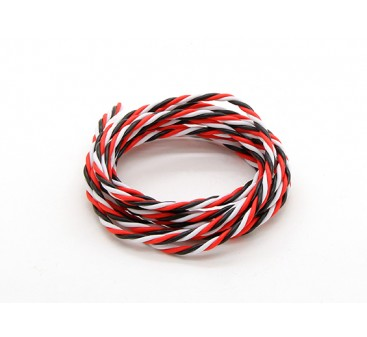 Twisted 22AWG Servo Wire Red/Black/White (2mtr)