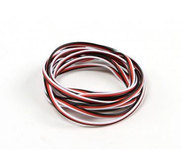 Flat 26AWG servo wire 2 mtr (R/B/W)