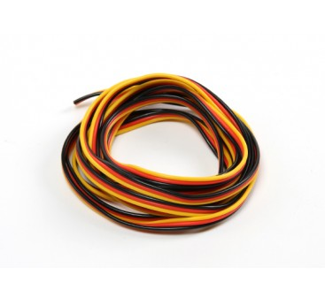 22AWG Servo Wire 2mtr (Red/Black/Yellow)